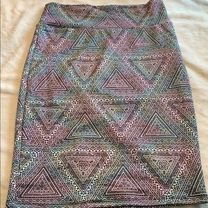 LULAROE Print Pencil Skirt